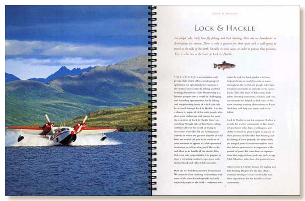 Lock & Hackle brochure, floatplane