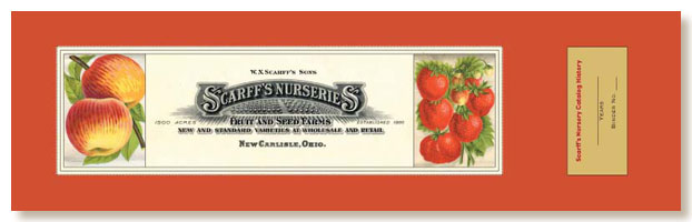 Scarff's Nurseries labels for binder