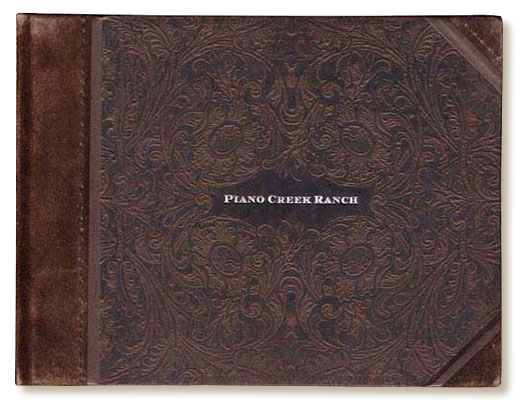 Piano Creek Ranch leather cover